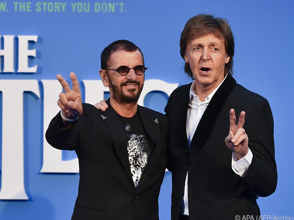 Beatles - Paul McCartney und Ringo Starr für einen Abend wiedervereint