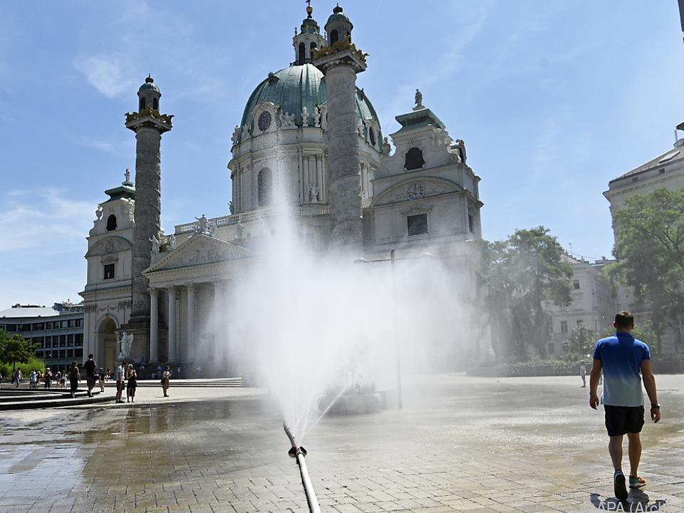 Temperaturen in den Städten steigen