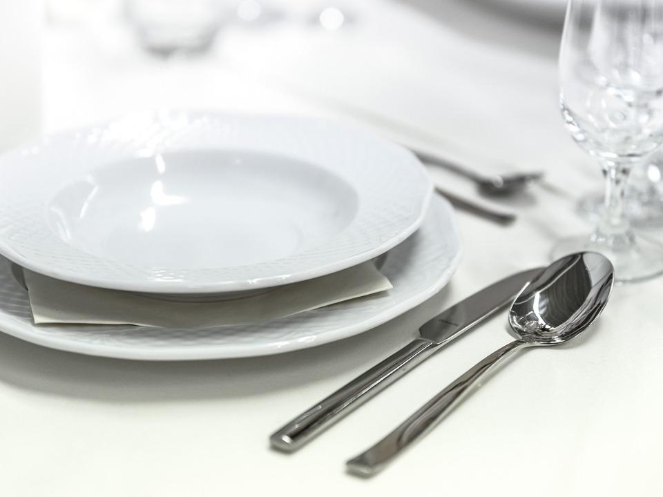 Besteck Gedeck Restaurant Essen Hochzeitsessen
