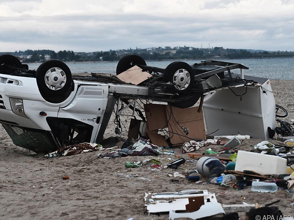 Wohnmobil wurde von Sturmböen erfasst