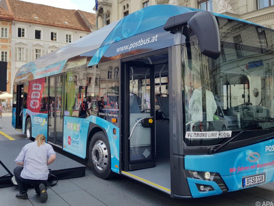Der Bus wird in Graz und Umgebung unterwegs sein