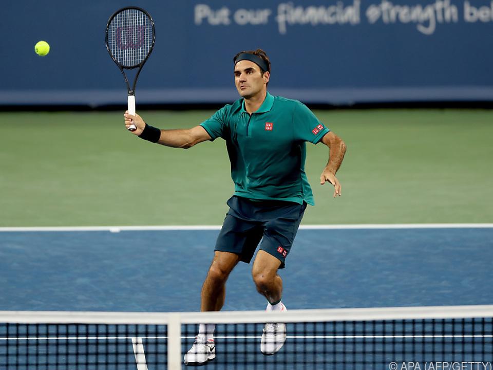 Federer wieder voll in Fahrt