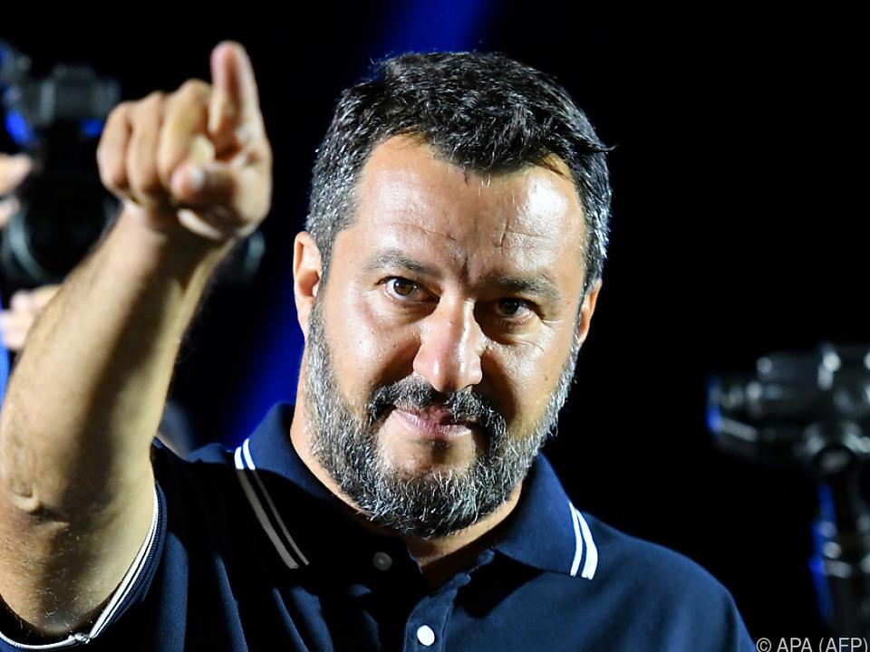 Innenminister Matteo Salvini fordert Neuwahlen