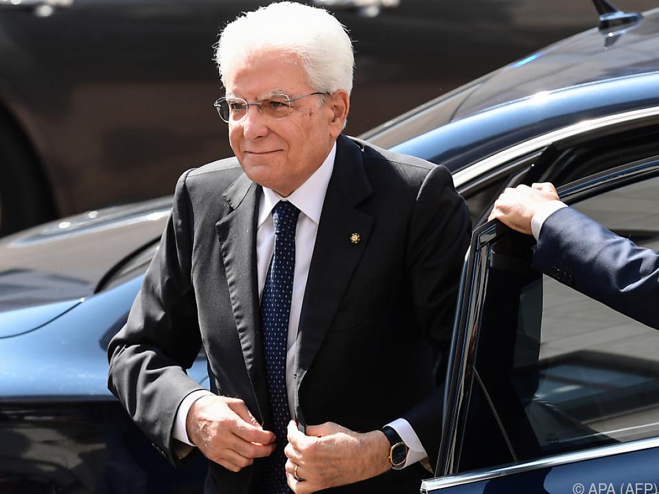 Italiens Staatschef Mattarella sucht Wege aus der Krise