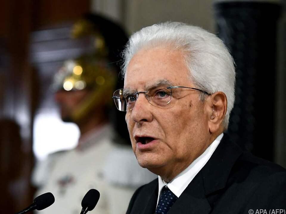 Italiens Staatschef will den Parteien mehr Zeit geben