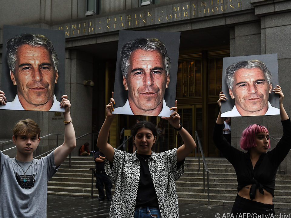 Protest gegen Jeffrey Epstein in New York