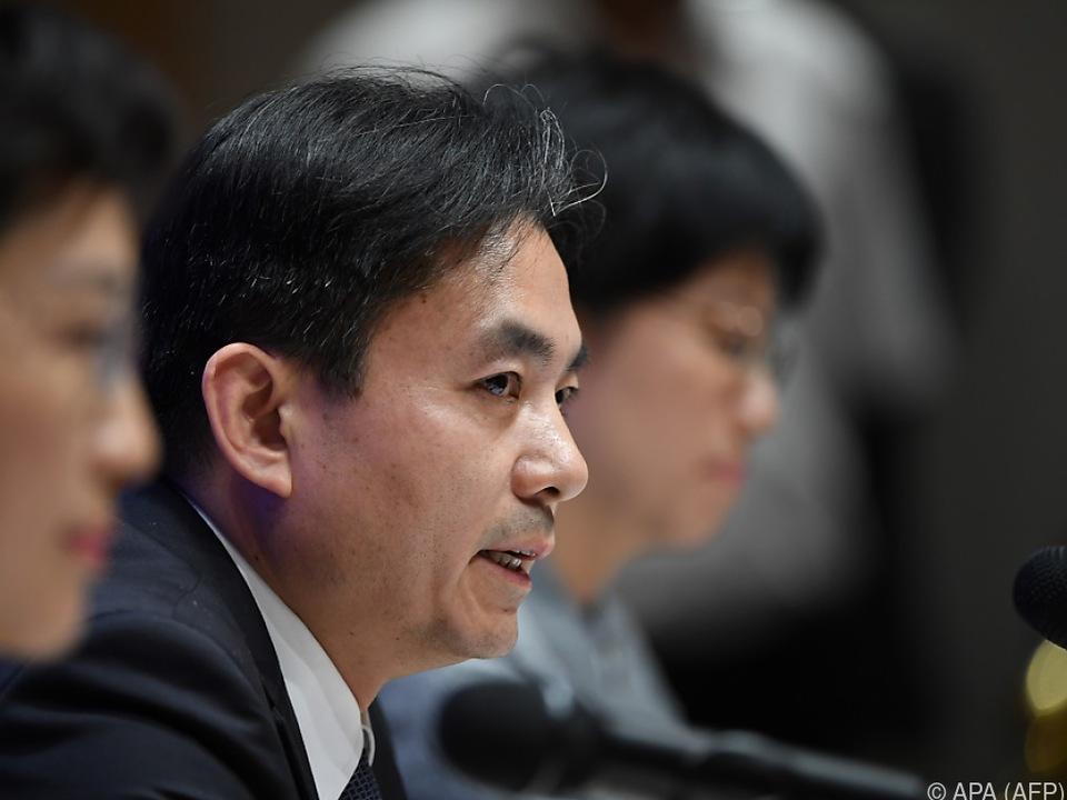 Regierungssprecher Guang warnte die Demonstranten eindringlich