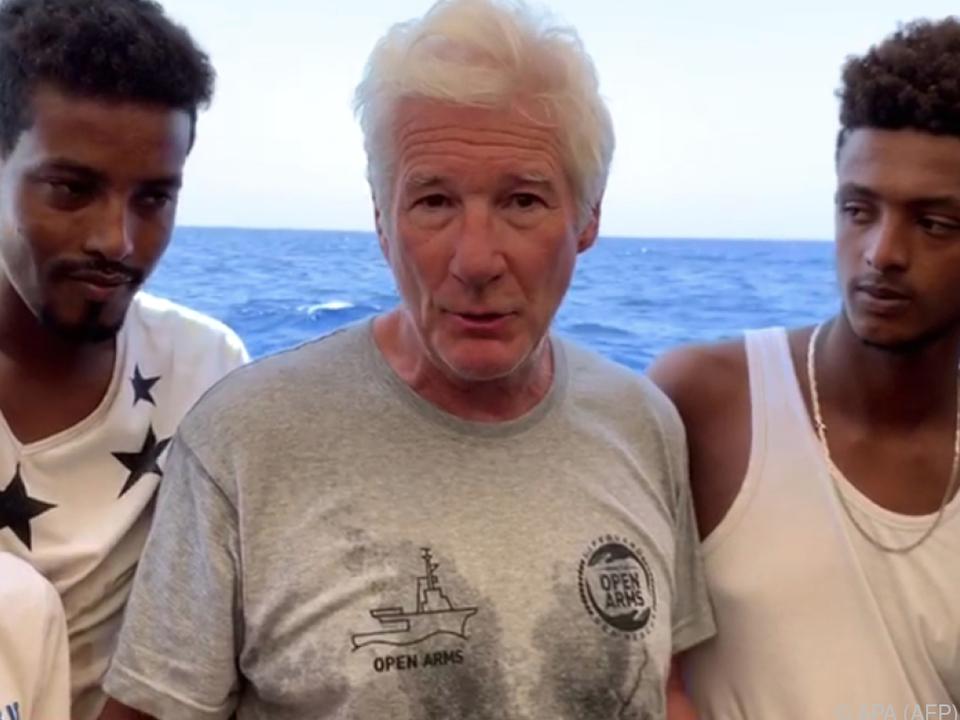 Richard Gere besuchte das Rettungsschiff \