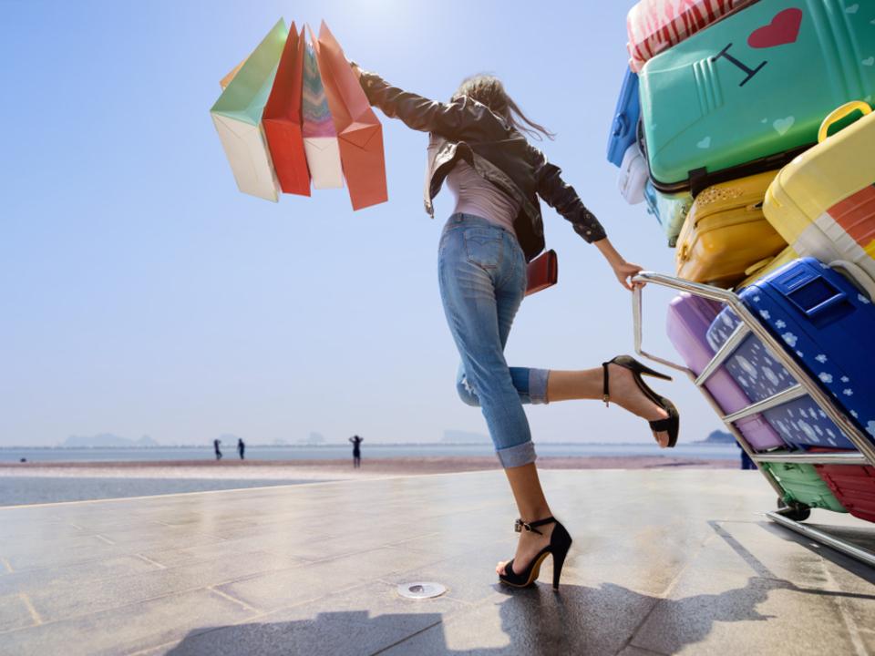 Urlaub koffer flughafen reise
