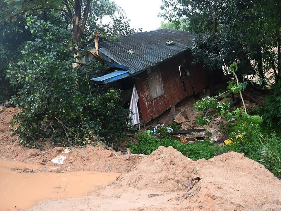 Viele Häuser wurden bei dem Erdrutsch zerstört