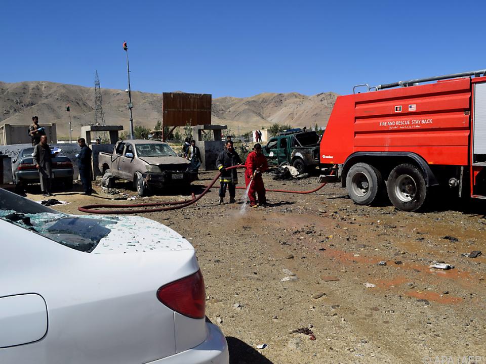 Anschlag auf Wahlkampfveranstaltung von Präsident Ghani