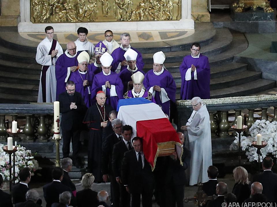 Bei der Trauerfeier war internationale Politik-Prominenz vertreten