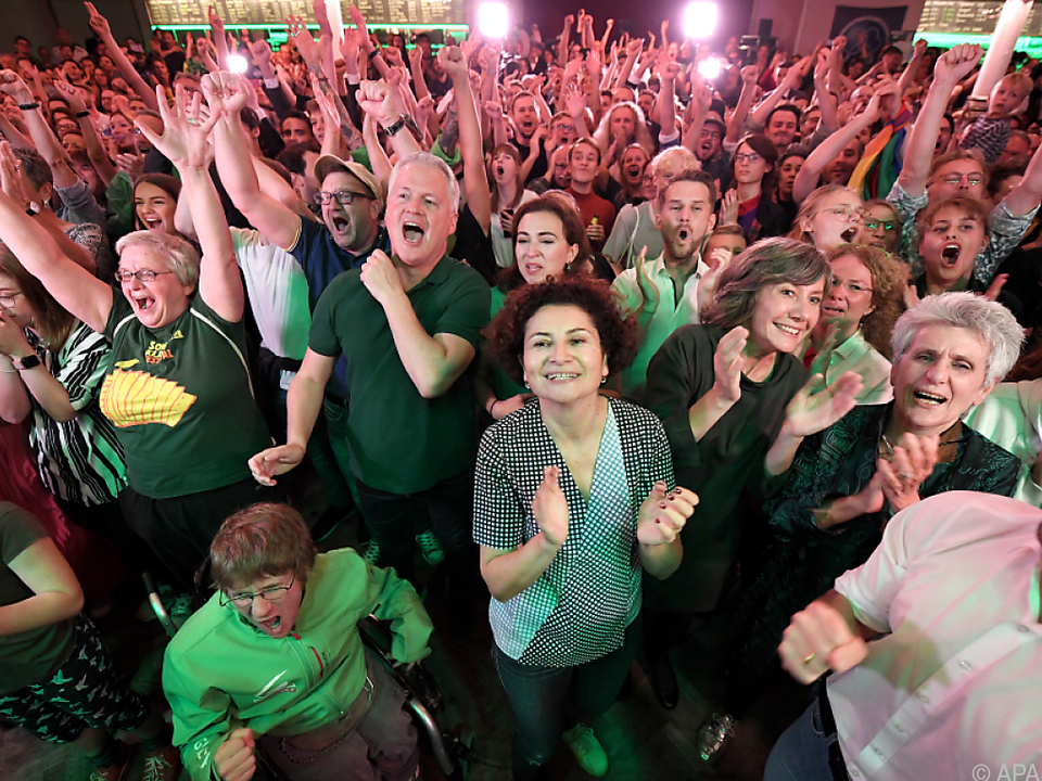 Jubel bei den Grünen im \