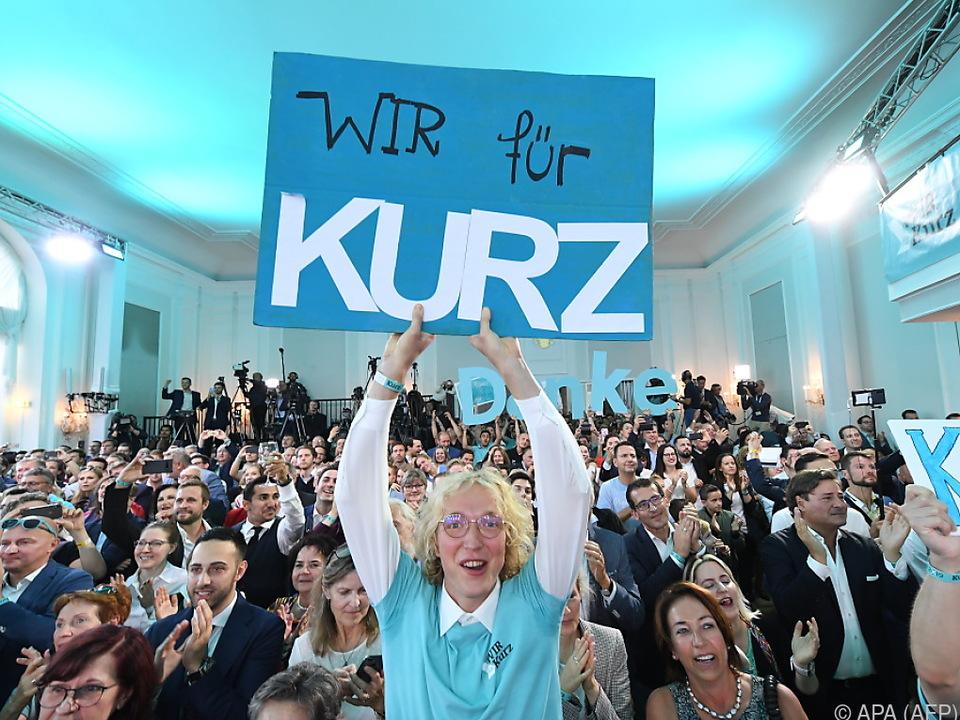 Jubel-Stimmung in der ÖVP-Zentrale