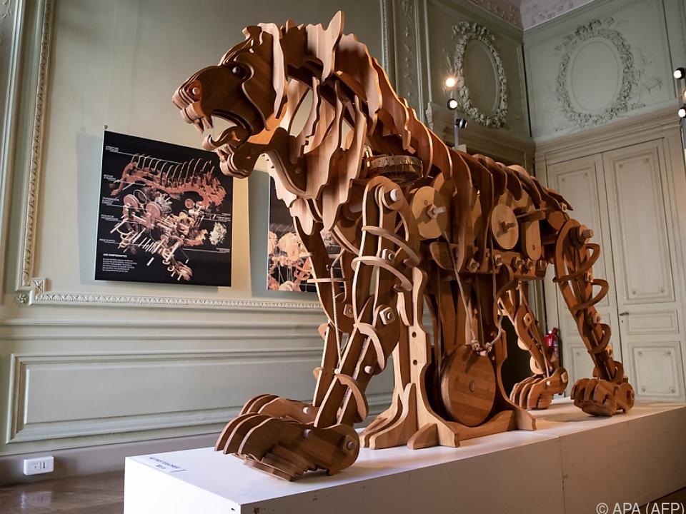 Nachbau des mechanischen Löwens von da Vinci