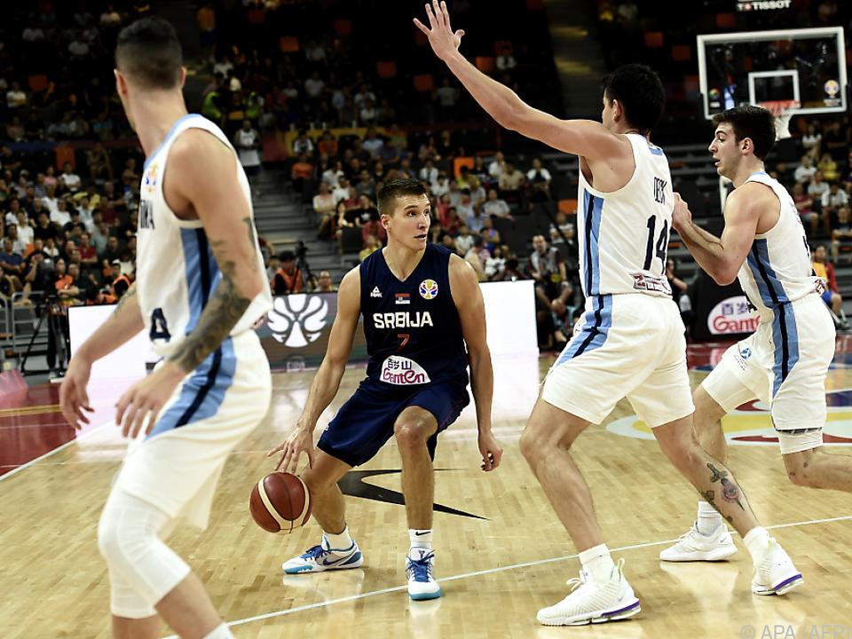 Serbiens Star Bogdanovic konnte die Niederlage nicht verhindern