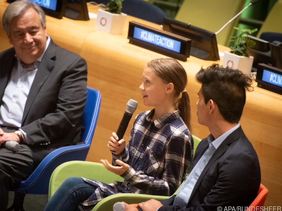 Thunberg sprach vor dem Jugendklimagipfel