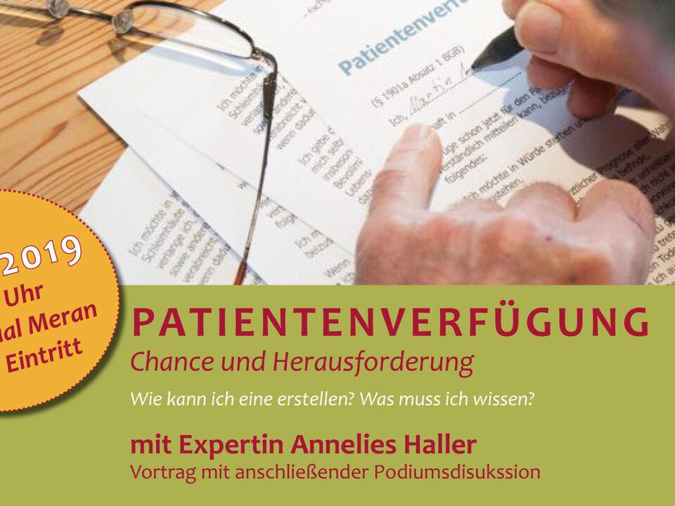 26.10.2019 Vortrag Patientenverfügung