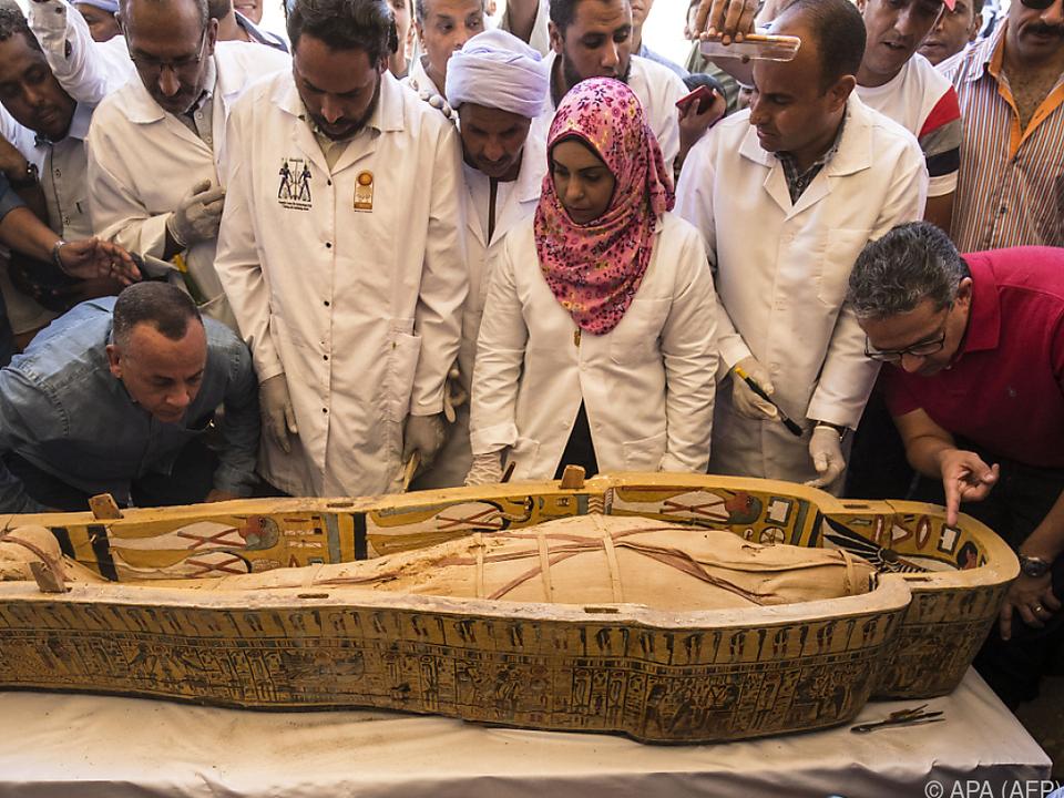 30 Sarkophage wurden im Tal der Könige ausgegraben
