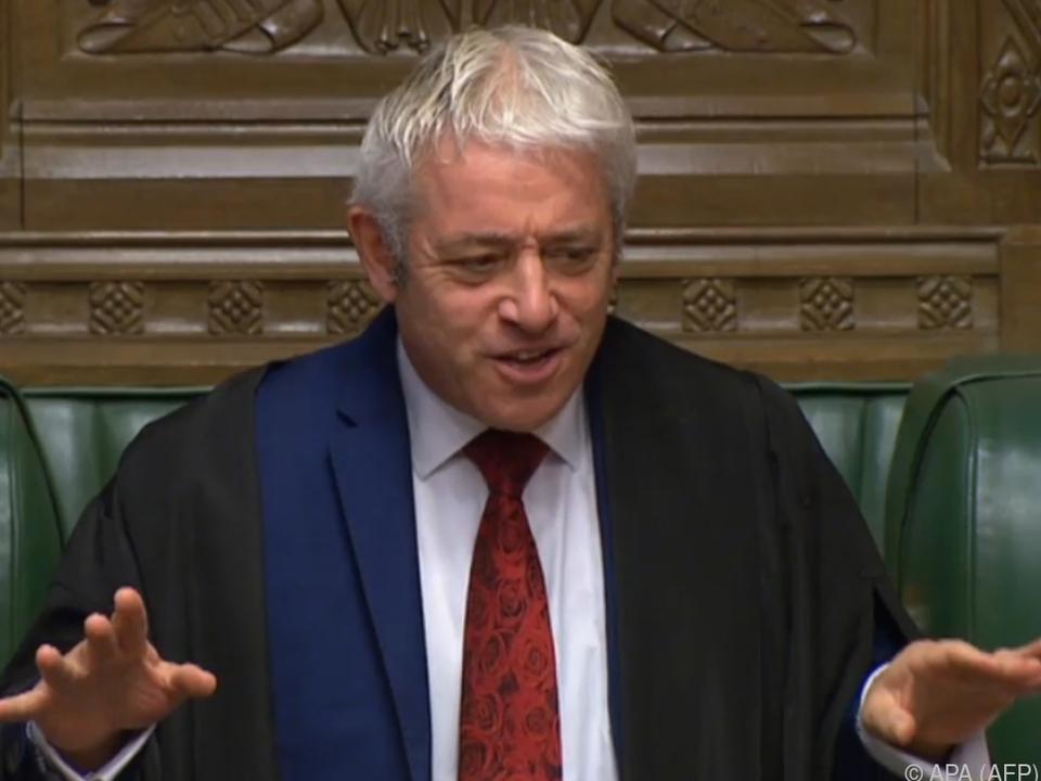 Britischer Parlamentspräsident John Bercow lässt Regierung abblitzen