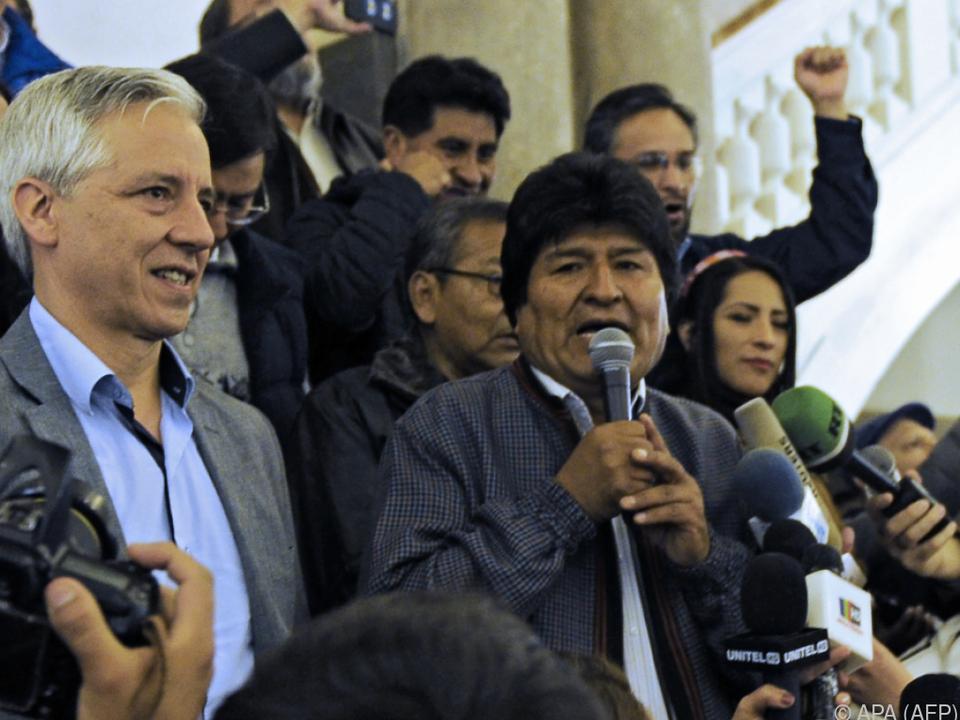 Evo Morales zeigte sich siegessicher