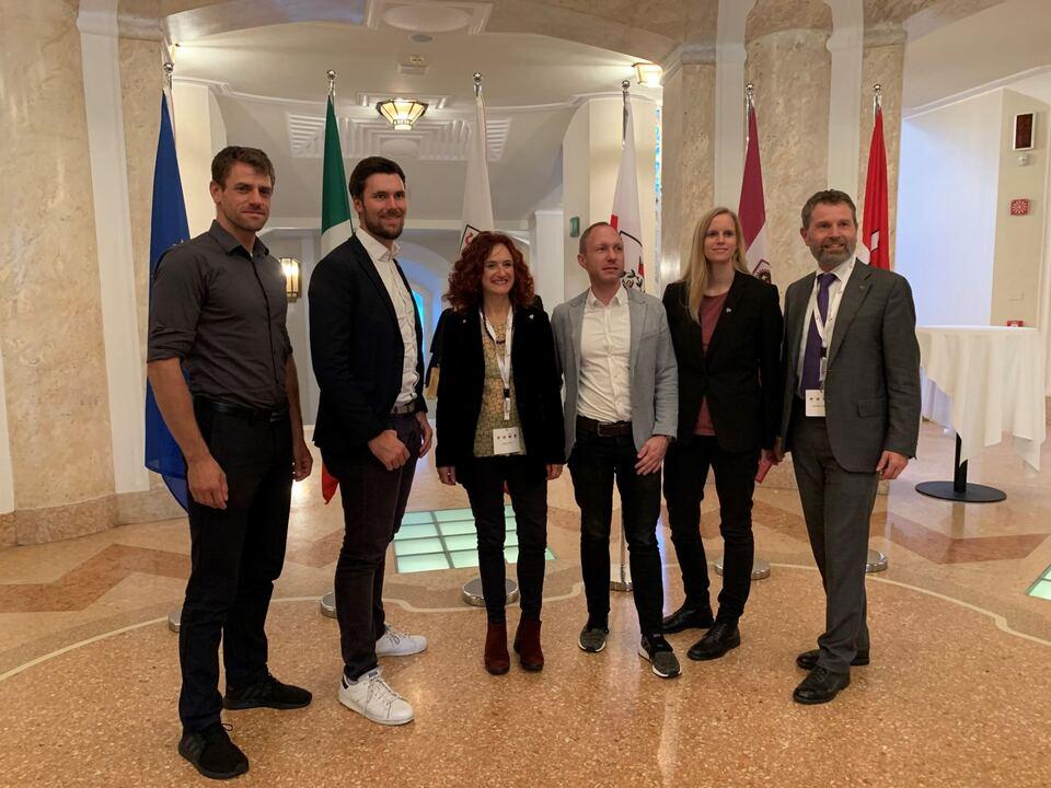 Grünes Treffen beim Dreier-Landtag