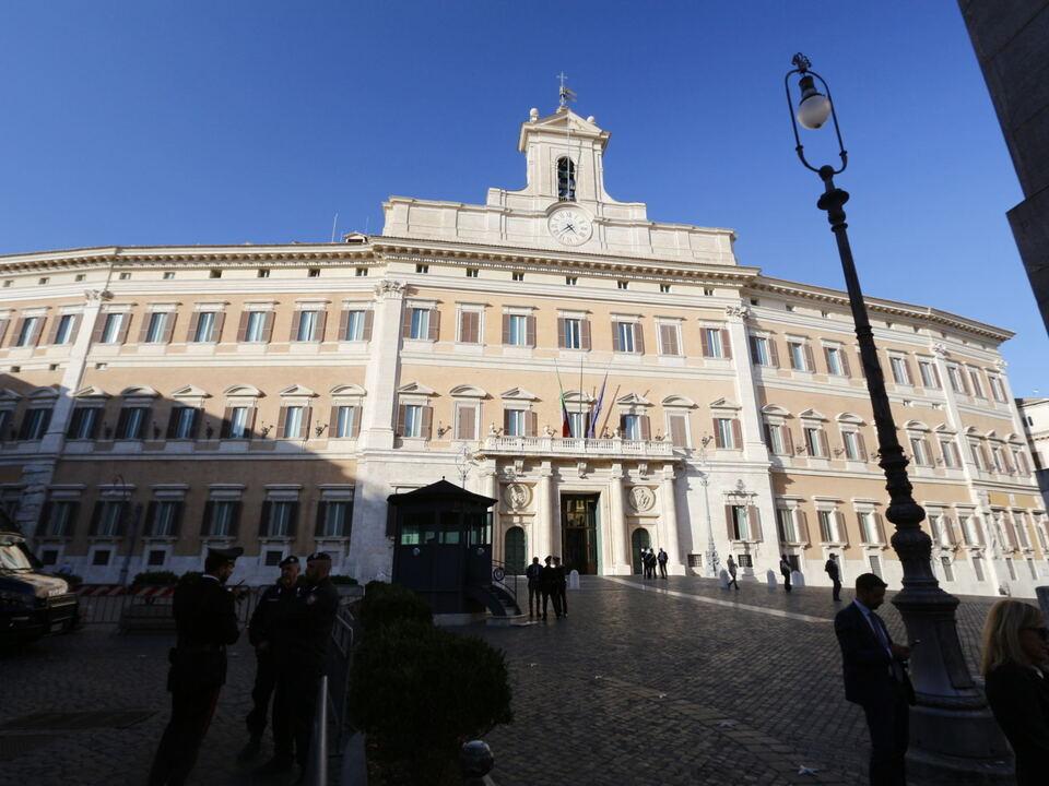 Palazzo Montecitorio Abgeordnetenkammer rom