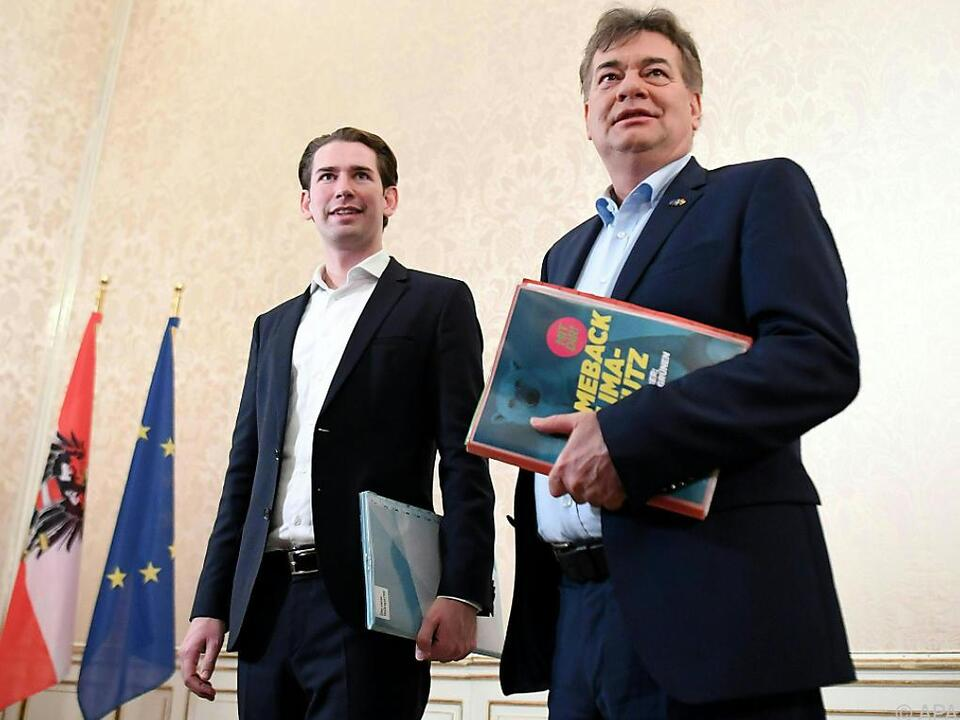 ÖVP-Chef Kurz empfing Grünen-Chef Kogler