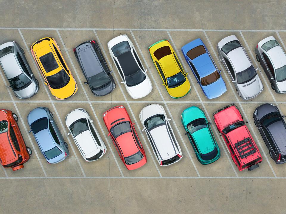 Parkplatz Auto parken garage sym