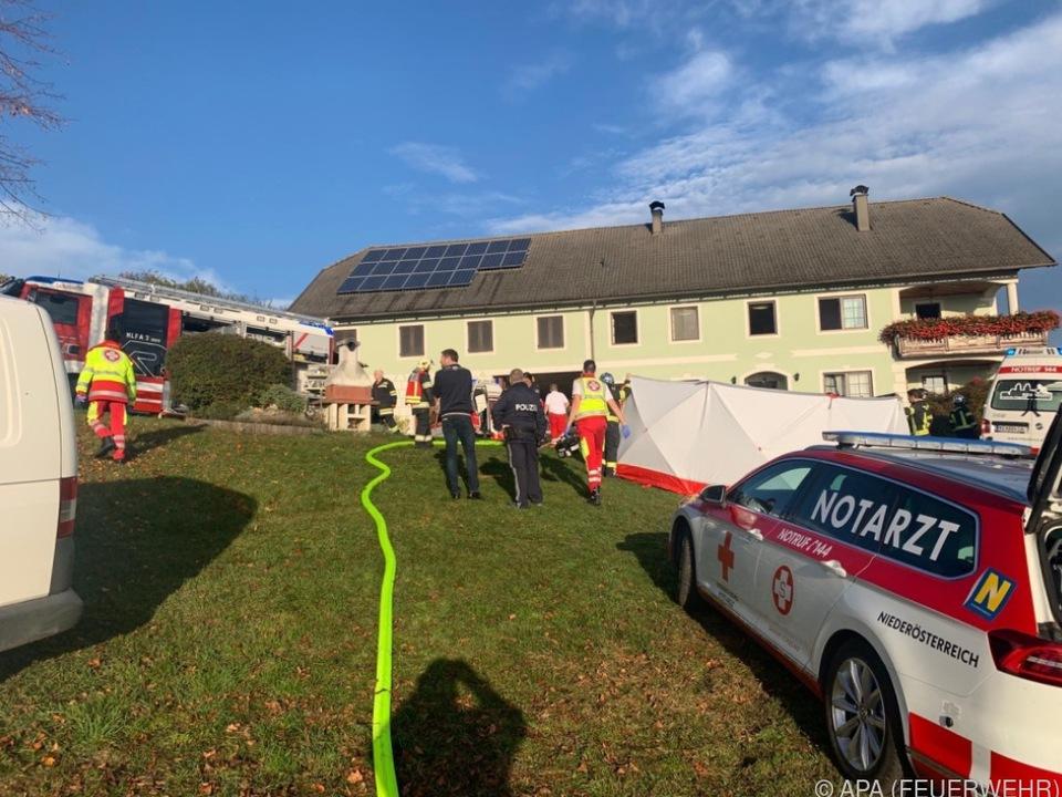Sieben Feuerwehren standen im Einsatz