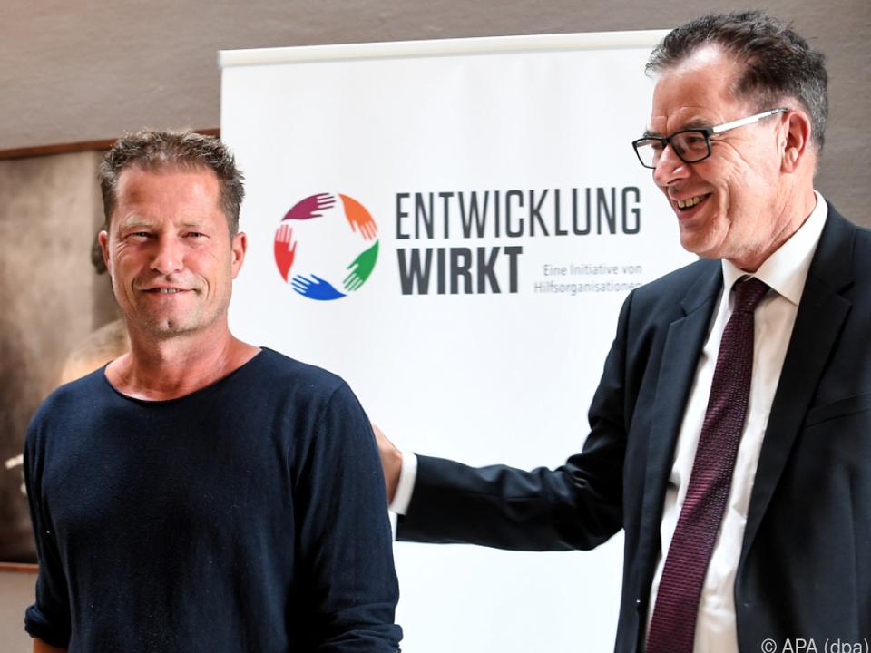 Til Schweiger mit dem deutschen Entwicklungsminister Müller