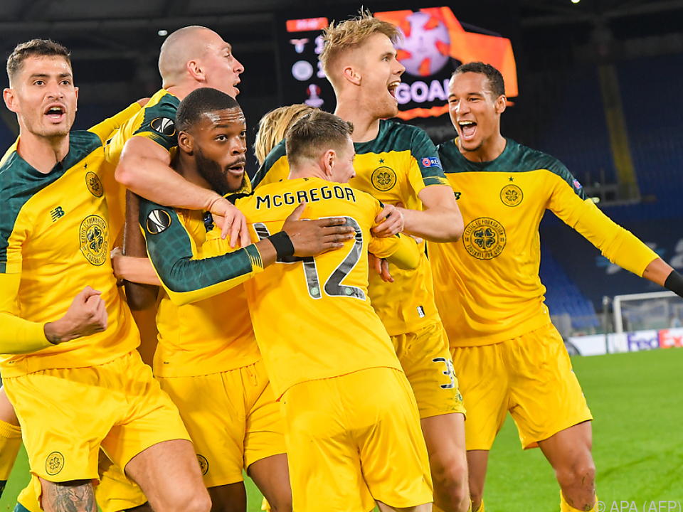 Celtic bejubelt einen Auswärtssieg in Rom