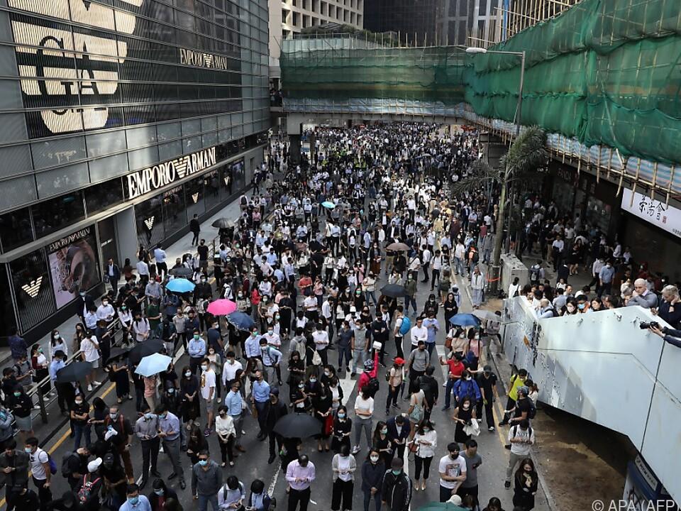 Die Proteste gegen China und die Regierung von Hongkong gehen weiter