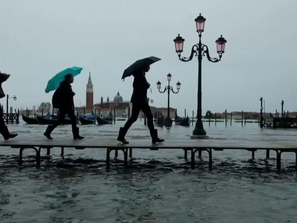 Erneut Hochwasser in Venedig