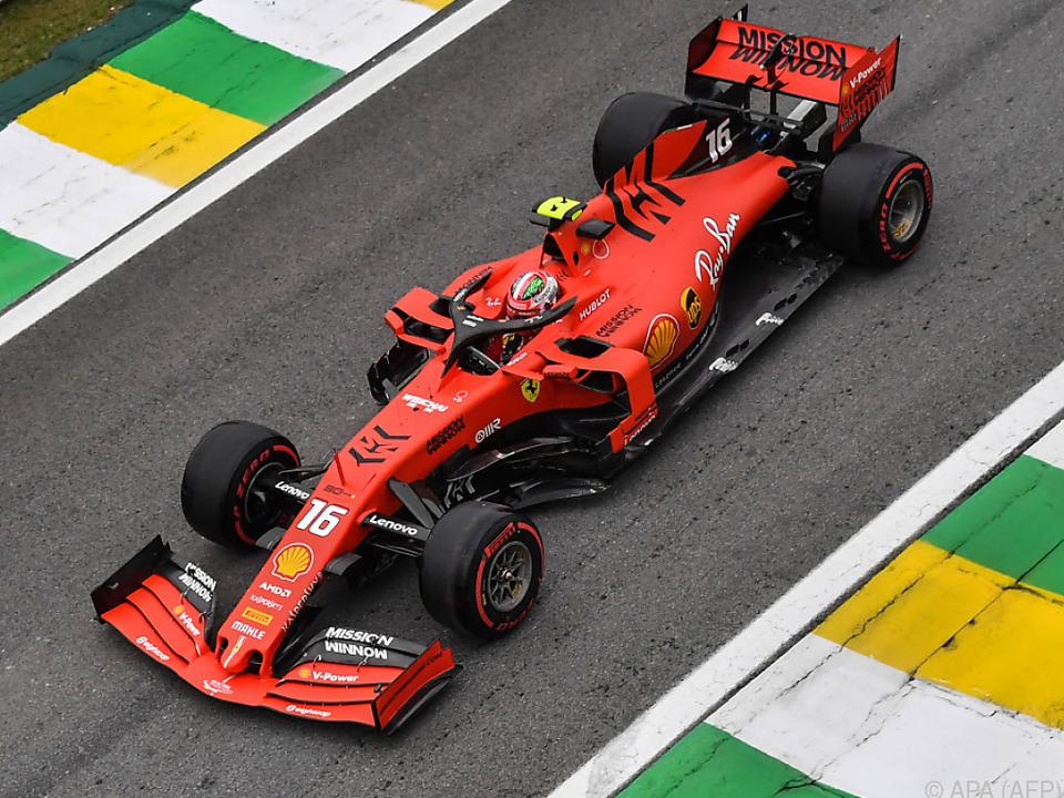 Ferrari im Training dominant