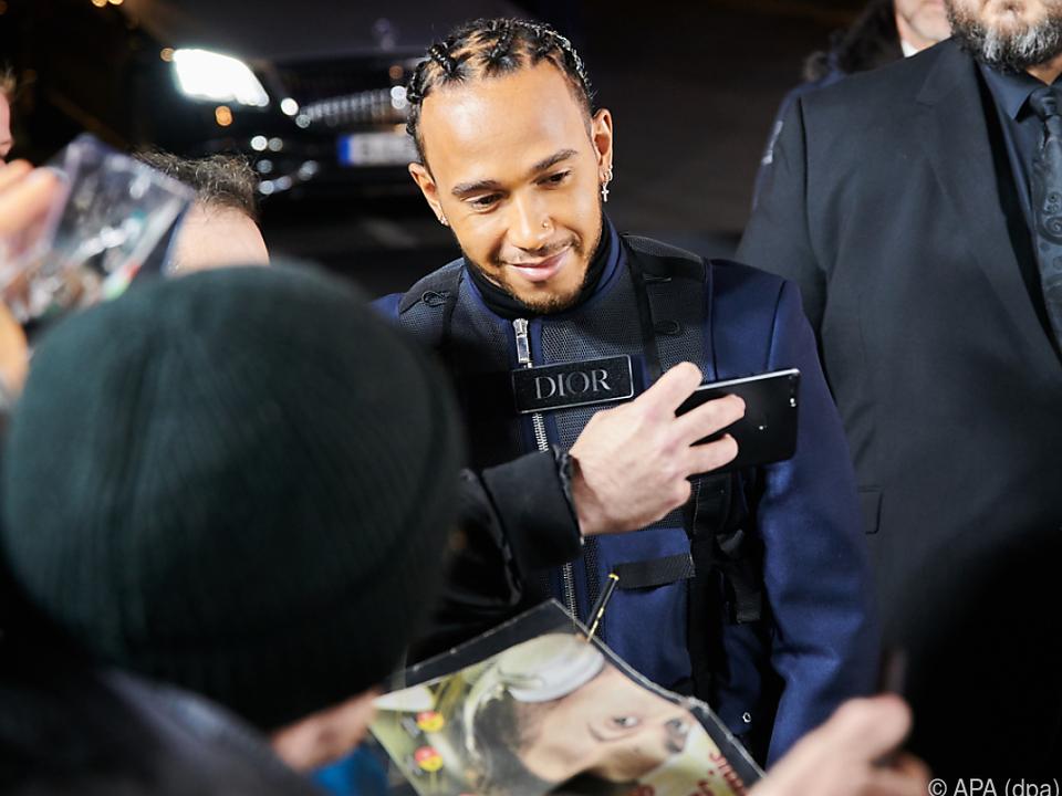 Formel-1-Weltmeister Hamilton ist ein großer Fan des Musikers