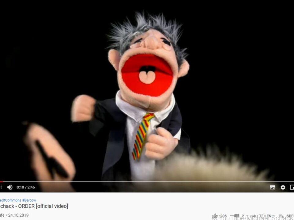 John Bercow als Puppe