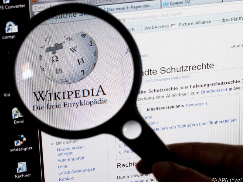 Rund 60 Österreicher beliefern Wikipedia