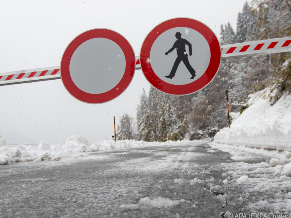 Schneemassen in Teilen Kärntens und Osttirols