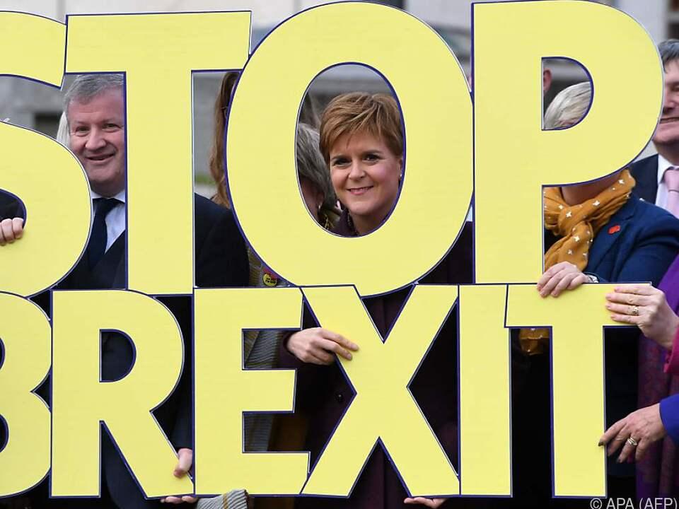 SNP-Chefin zeigte sich am Freitag mit klarer Botschaft