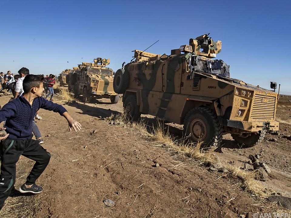 Türkische Armee auf dem Vormarsch