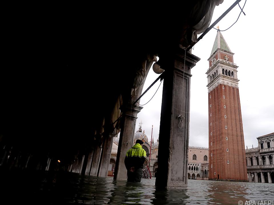 Venedig wurden zum dritten Mal binnen einer Woche überschwemmt
