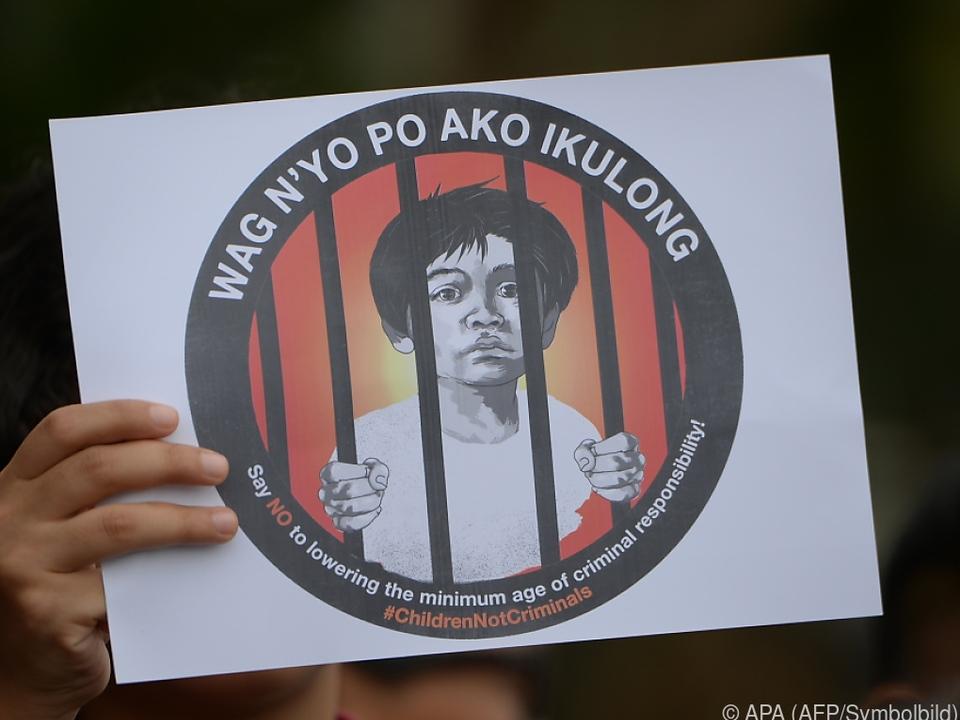 Viele Kinder werden inhaftiert