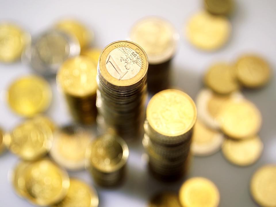 Geld Euro Münzen