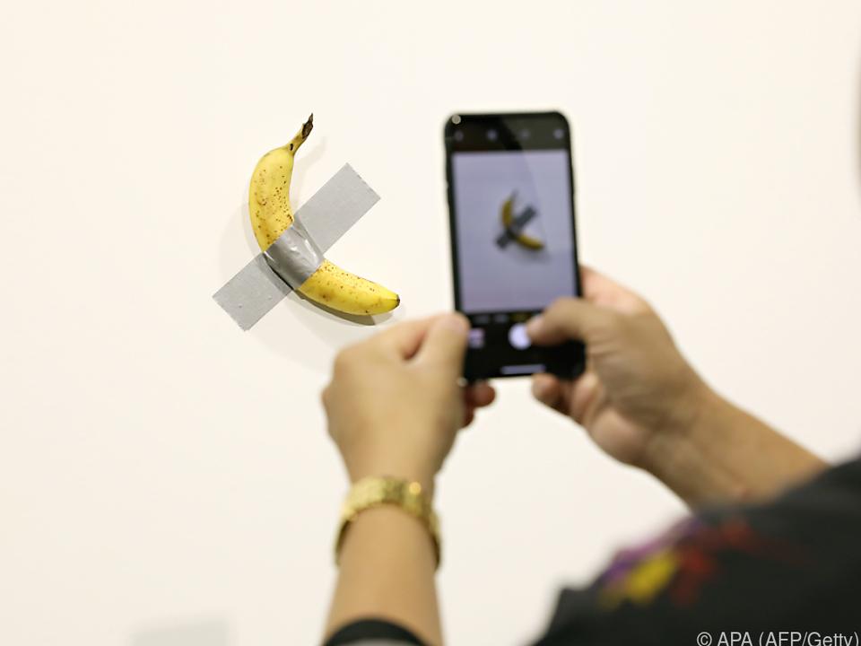 Die teure Banane wurde ihrer eigentlichen Bestimmung zugeführt