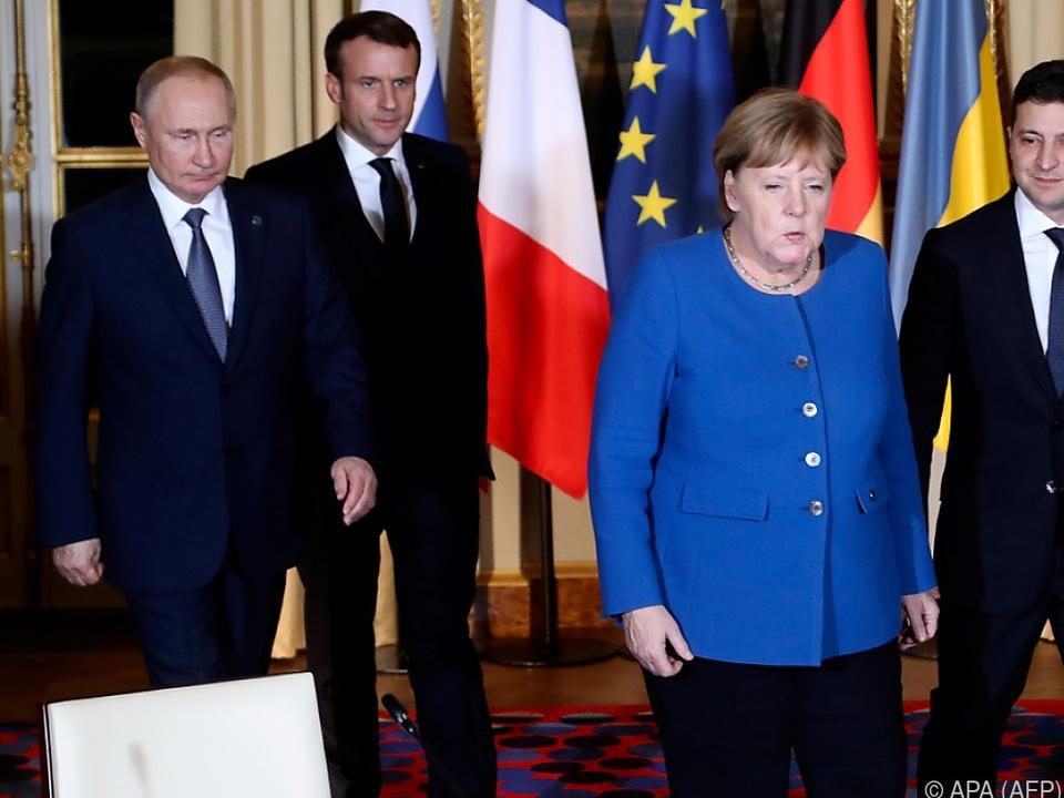 Vierer-Gipfel zum Ukraine-Konflikt in Paris