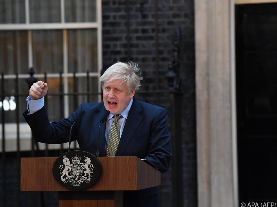 Wahlsieger Boris Johnson bei Ansprache in der Downing Street