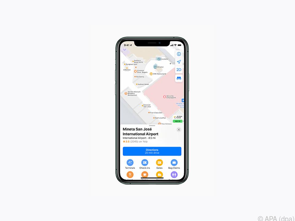 Apple bietet nun auch eine Indoor-Karte an