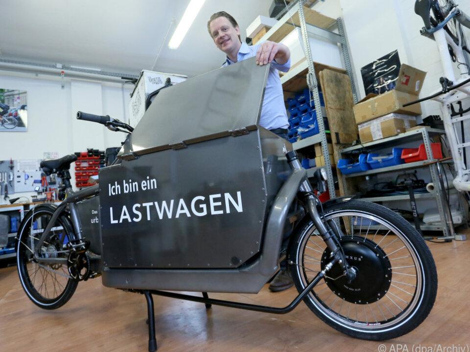 Bis zu 4.000 Euro Förderung soll es für Cargobikes geben