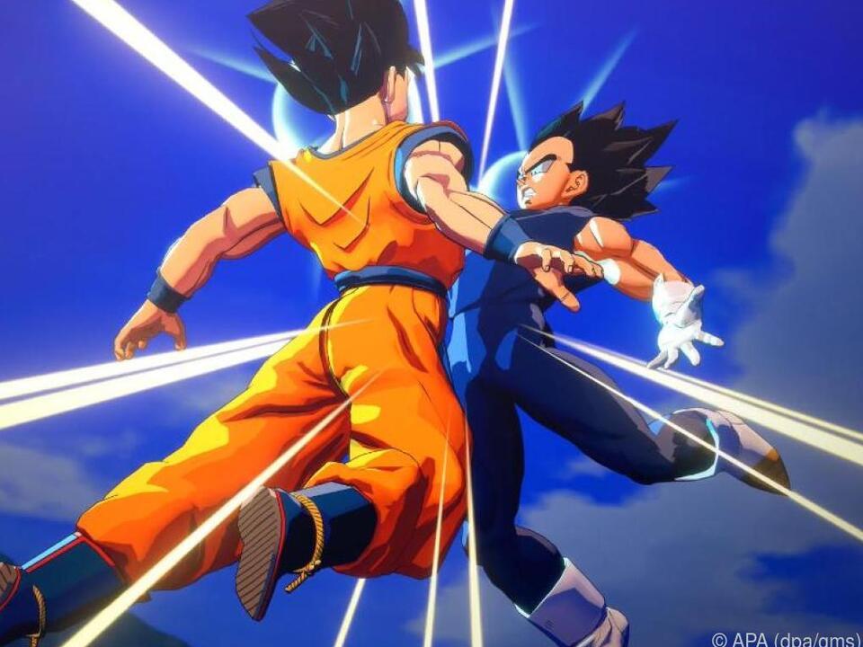 Bumm! Hier messen Son Goku und Sayajin Vegeta ihre Kräfte